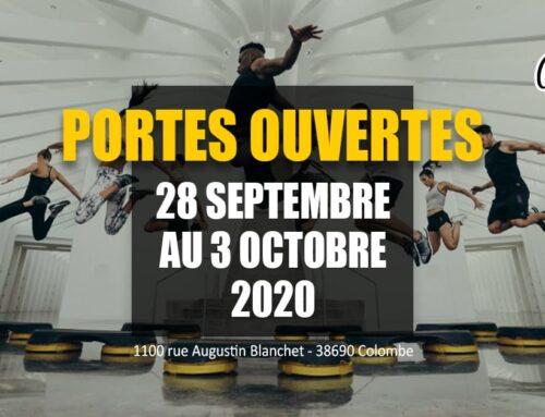 PORTES OUVERTES DU 28 SEPTEMBRE AU 3 OCTOBRE 2020 !