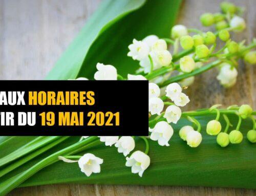 MAI 2021 – Changement des horaires d'entrainement